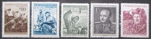 Poštovní známky Èeskoslovensko 1951 Den armády Mi# 691-95 Kat 5€