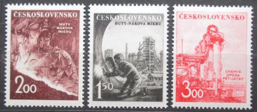 Poštovní známky Èeskoslovensko 1952 Tìžký prùmysl Mi# 709-11
