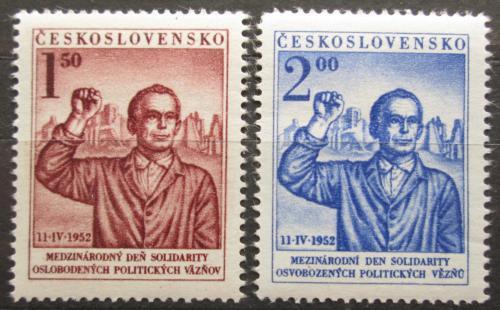 Poštovní známky Èeskoslovensko 1952 Den boje proti fašismu Mi# 719-20