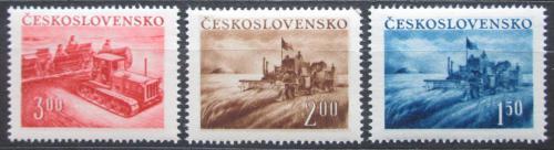 Poštovní známky Èeskoslovensko 1952 Zemìdìlství Mi# 724-26