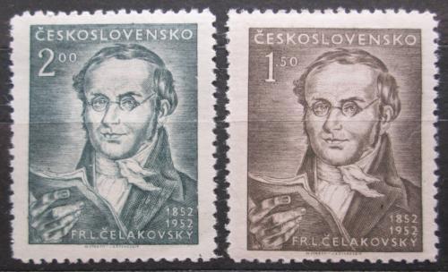 Poštovní známky Èeskoslovensko 1952 F. L. Èelakovský Mi# 753-54