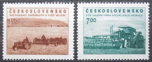 Poštovní známky Èeskoslovensko 1953 Zemìdìlství Mi# 806-07