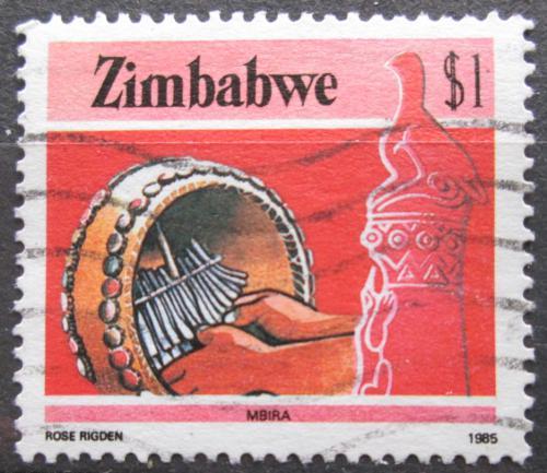 Poštovní známka Zimbabwe 1985 Hudební nástroj Mbira Mi# 328 A