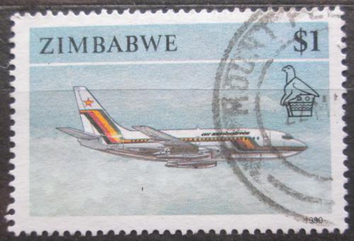 Poštovní známka Zimbabwe 1990 Letadlo Mi# 434