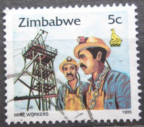 Poštovní známka Zimbabwe 1995 Horníci Mi# 542