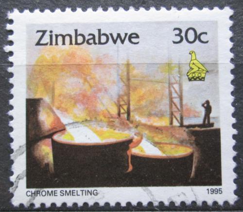 Poštovní známka Zimbabwe 1995 Tavení chromu Mi# 545
