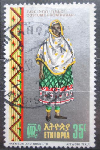 Poštovní známka Etiopie 1968 Lidový kroj Harar Mi# 603