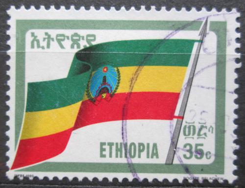 Poštovní známka Etiopie 1990 Státní vlajka Mi# 1367