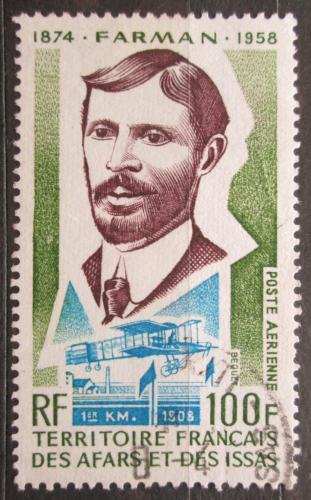Poštovní známka Afars a Issas 1974 Henri Farman, letec Mi# 97
