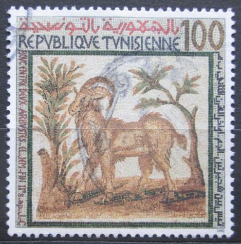 Poštovní známka Tunisko 1992 Antická mozaika Mi# 1258