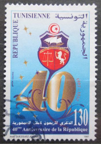 Poštovní známka Tunisko 1997 Vznik republiky, 40. výroèí Mi# 1364