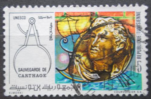 Poštovní známka Tunisko 1973 Záchrana ruin v Kartágu Mi# 802