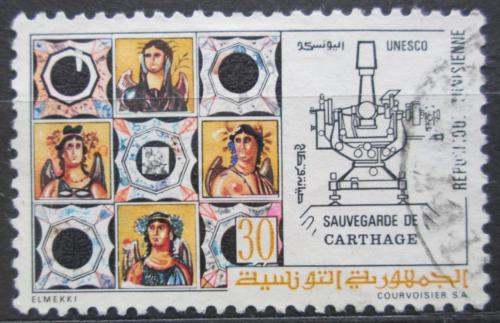 Poštovní známka Tunisko 1973 Záchrana ruin v Kartágu Mi# 804