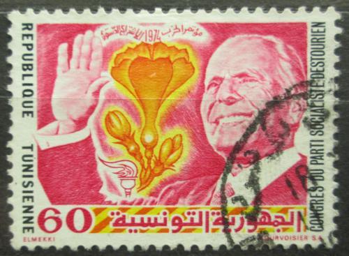 Poštovní známka Tunisko 1974 Prezident Habib Bourguiba Mi# 838
