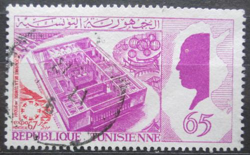 Poštovní známka Tunisko 1967 Výstava EXPO Mi# 675