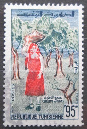 Poštovní známka Tunisko 1959 Sbìr oliv Mi# 539