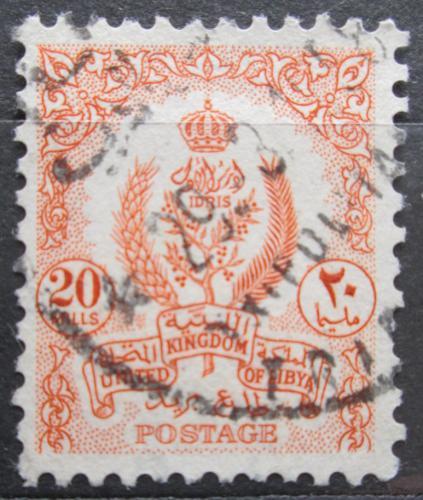 Poštovní známka Libye 1955 Státní znak Mi# 61