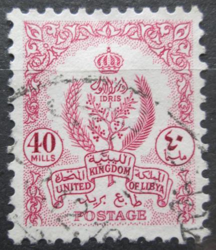 Poštovní známka Libye 1955 Státní znak Mi# 64