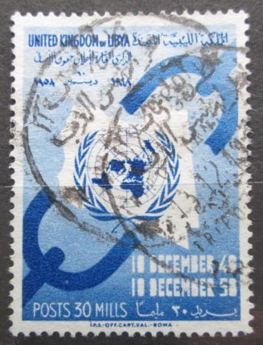 Poštovní známka Libye 1958 Deklarace lidských práv Mi# 81