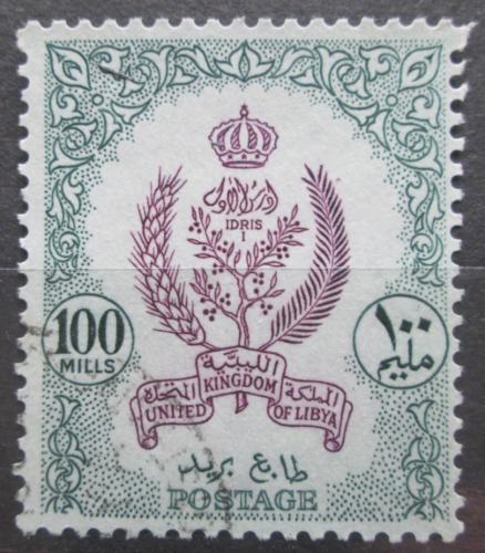 Poštovní známka Libye 1960 Státní znak Mi# 103