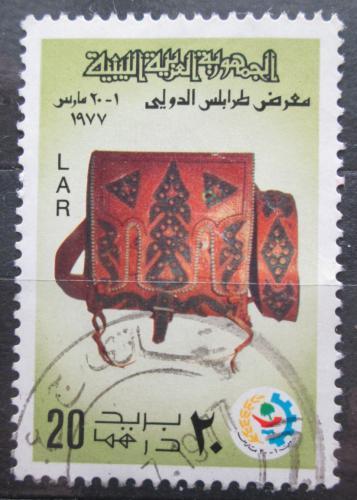 Poštovní známka Libye 1977 Kožená brašna Mi# 563