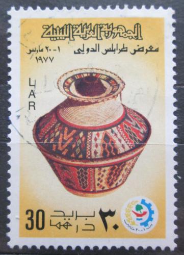 Poštovní známka Libye 1977 Stará váza Mi# 564