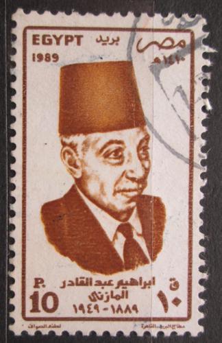 Poštovní známka Egypt 1989 Abdel Kader el Mazni, spisovatel Mi# 1662