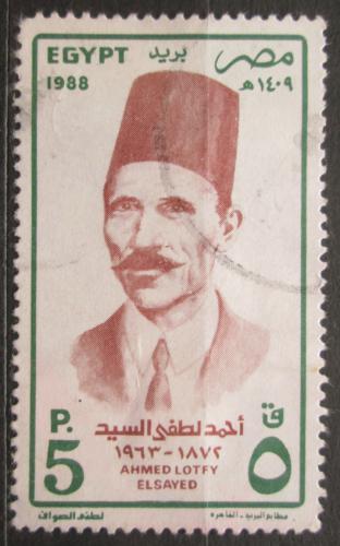 Poštovní známka Egypt 1988 Ahmed Lotfy Elsyed Mi# 1629
