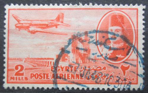 Poštovní známka Egypt 1947 Letadlo DC-3 Mi# 305