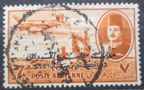 Poštovní známka Egypt 1947 Letadlo DC-3 Mi# 308
