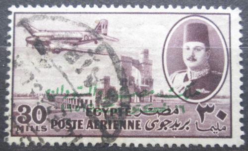 Poštovní známka Egypt 1947 Letadlo DC-3 Mi# 312
