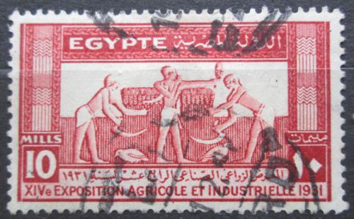 Poštovní známka Egypt 1931 Stará freska Mi# 154