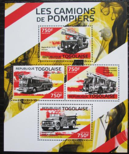 Poštovní známky Togo 2014 Hasièská auta Mi# 6056-59 Kat 12€