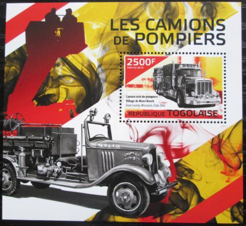 Poštovní známka Togo 2014 Hasièská auta Mi# Block 1032 Kat 10€