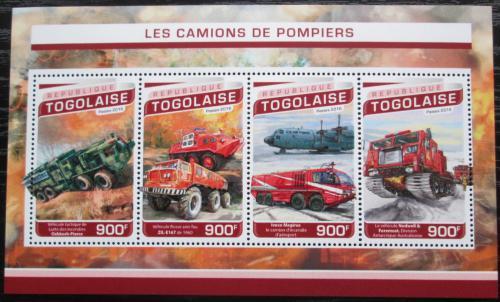 Poštovní známky Togo 2016 Hasièská auta Mi# 7744-47 Kat 14€