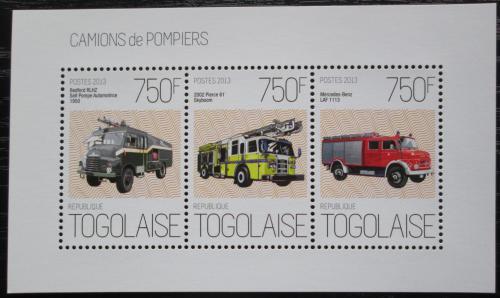 Poštovní známky Togo 2013 Hasièská auta Mi# 5181-83 Kat 9€