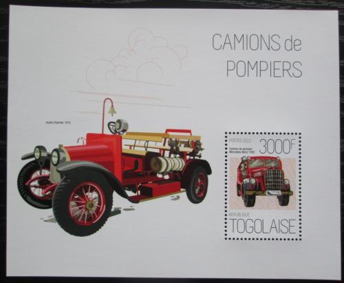 Poštovní známka Togo 2013 Hasièská auta Mi# Block 855 Kat 12€