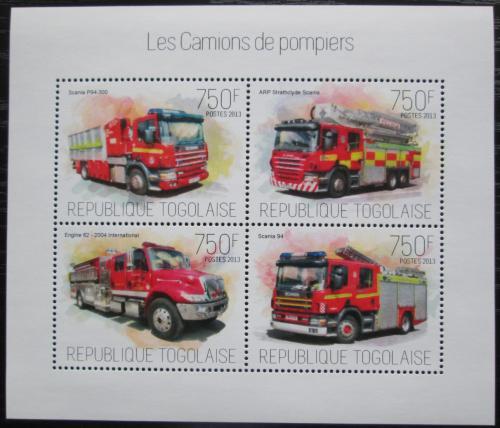 Poštovní známky Togo 2013 Hasièská auta Mi# 5366-69 Kat 12€