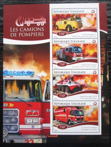 Poštovní známky Togo 2014 Hasièská auta Mi# 6451-54 Kat 12€