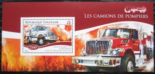 Poštovní známka Togo 2014 Hasièská auta Mi# Block 1108 Kat 10€