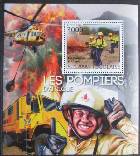 Poštovní známka Togo 2010 Afriètí hasièi Mi# Block 704 Kat 12€