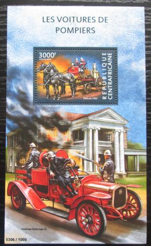 Poštovní známka SAR 2015 Hasièská technika Mi# Block 1324 Kat 14€