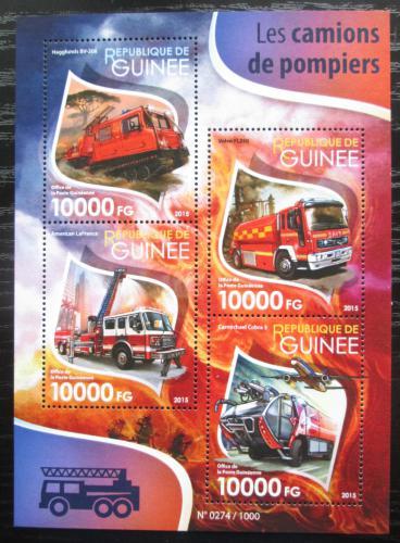 Poštovní známky Guinea 2015 Hasièská auta Mi# 11463-66 Kat 16€