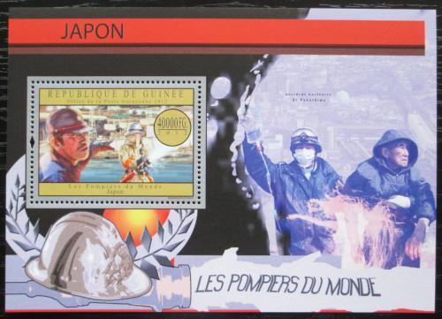 Poštovní známka Guinea 2012 Japonští hasièi Mi# Block 2175 Kat 16€