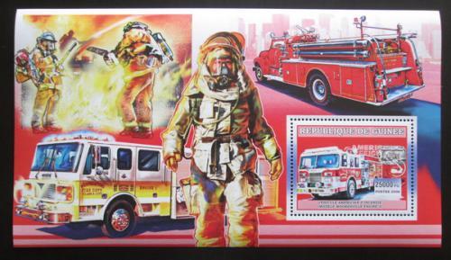 Poštovní známka Guinea 2006 Ameriètí hasièi Mi# Block 1066