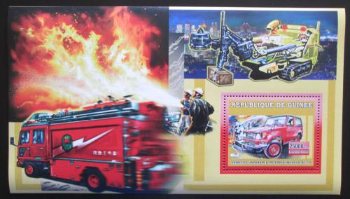 Poštovní známka Guinea 2006 Japonští hasièi Mi# Block 1069