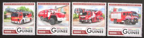 Poštovní známky Guinea 2016 Hasièská auta Mi# 11961-64 Kat 16€