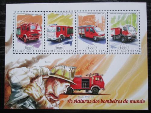 Poštovní známky Guinea-Bissau 2014 Hasièská auta Mi# 7400-03 Kat 13€