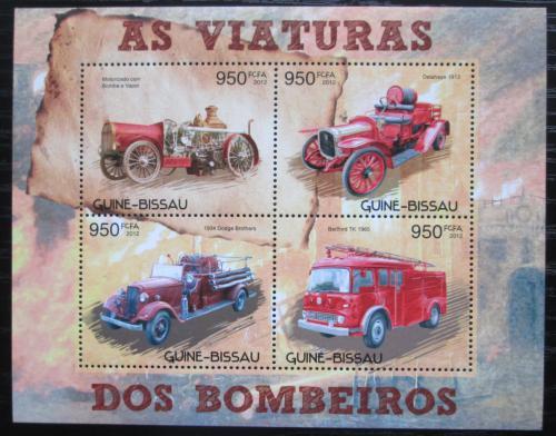 Poštovní známky Guinea-Bissau 2012 Hasièská auta Mi# 6240-43 Kat 14€