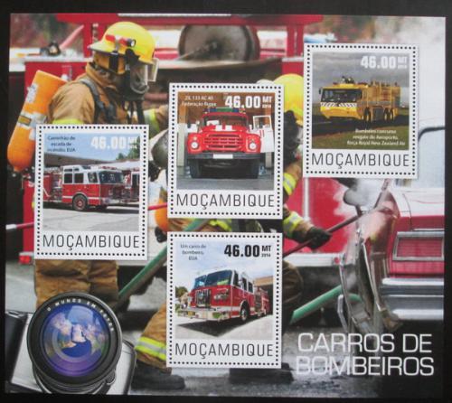 Poštovní známky Mosambik 2014 Hasièská auta Mi# Mi# 7670-73 Kat 10€